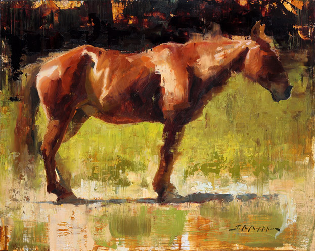 At Rest - painting of a horse by Jerry Markham