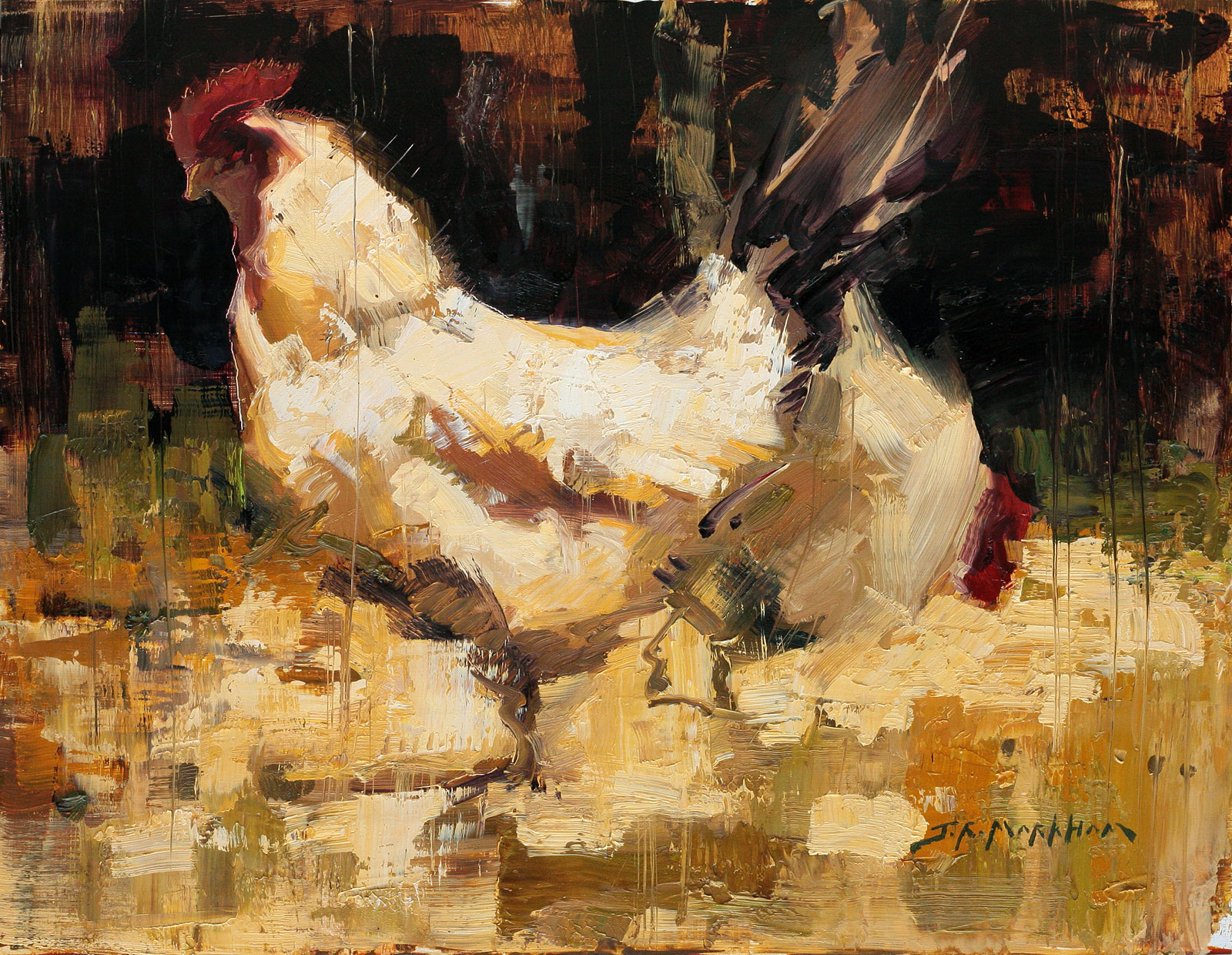 Jerry markham jerry markham paintings henny penny for Henny and paint