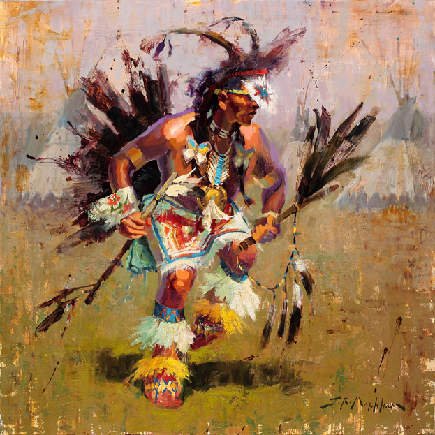 Rhythms of the Brave - painting by Jerry Markham