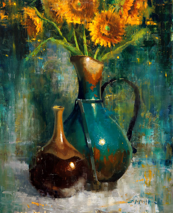 Turquoise Jug - painting by artist Jerry Markham