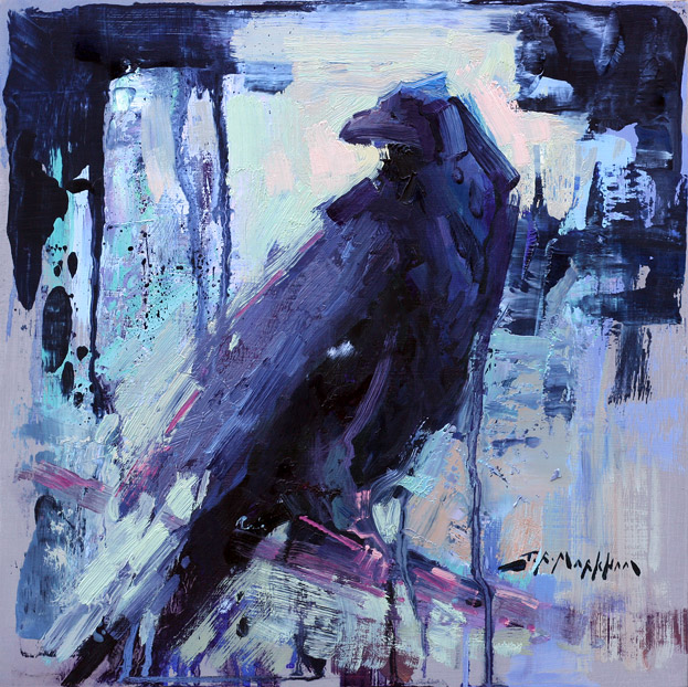 Painting of a Raven by artist Jerry Markham - www.JerryMarkham.com