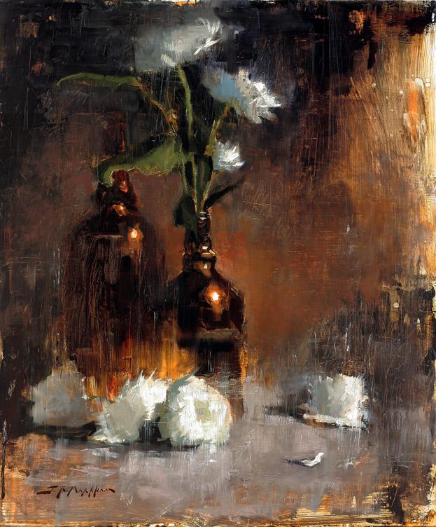 Decorative Distinction - floral painting by artist Jerry Markham