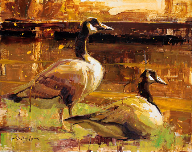 Painting of Geese by Jerry Markham