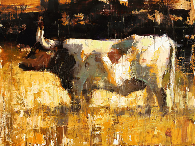 Longhorn - painting by Jerry Markham
