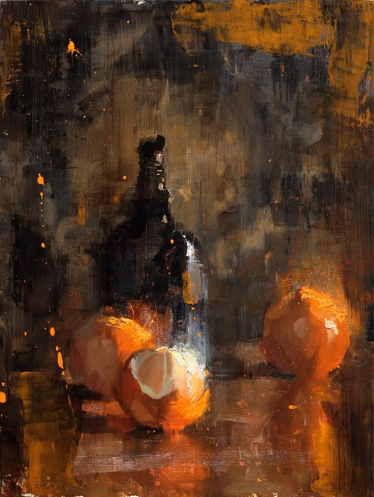 Orange Arrangement - painting by Jerry Markham