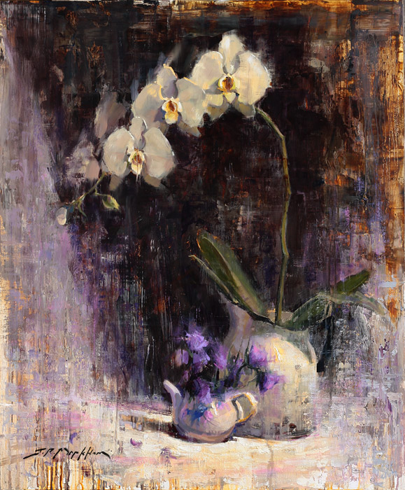 Petals and Pots - painting of orchids