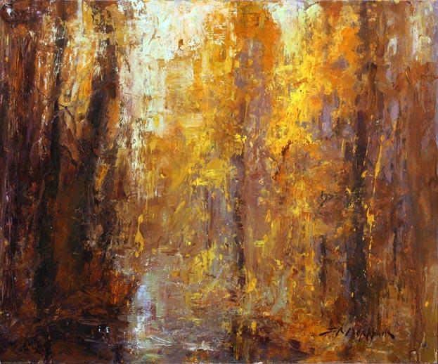 Splashes Of Autumn - landscape painting by Jerry Markham
