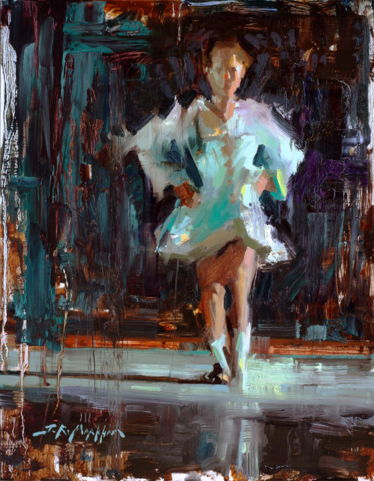 Tiny Dancer - painting of a dancer by Jerry Markham