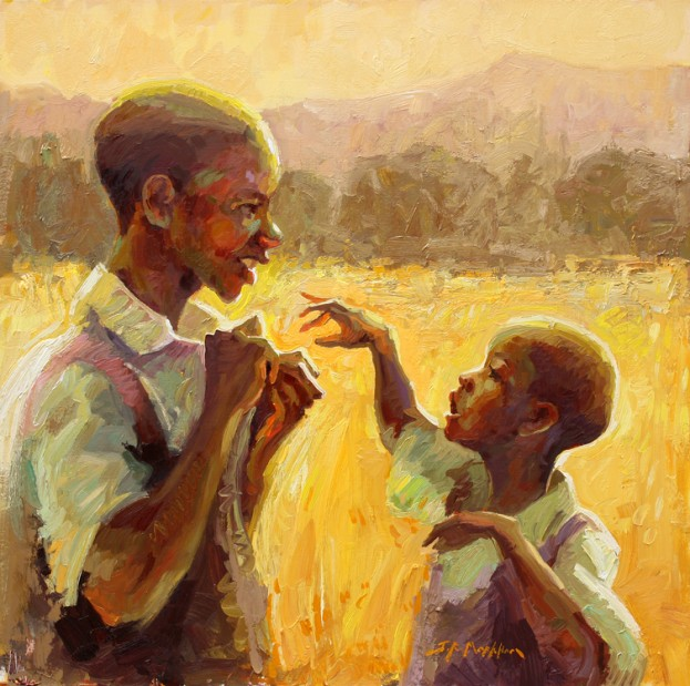 A Helping Hand  - painting by Jerry Markham