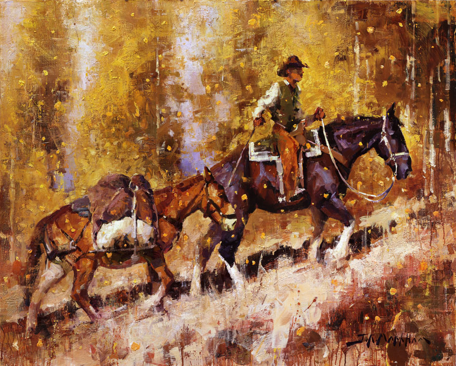 Autumn Winds - painting by Jerry Markham