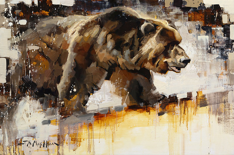 Bruiser - Grizzly bear painting by Jerry Markham artist