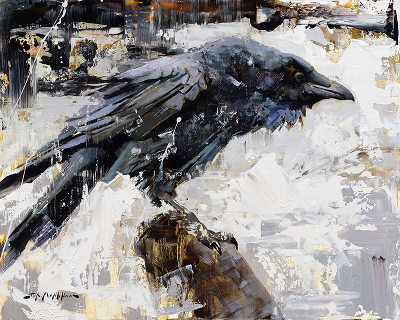 Cleared for Takeoff - raven painting by Jerry Markham artist