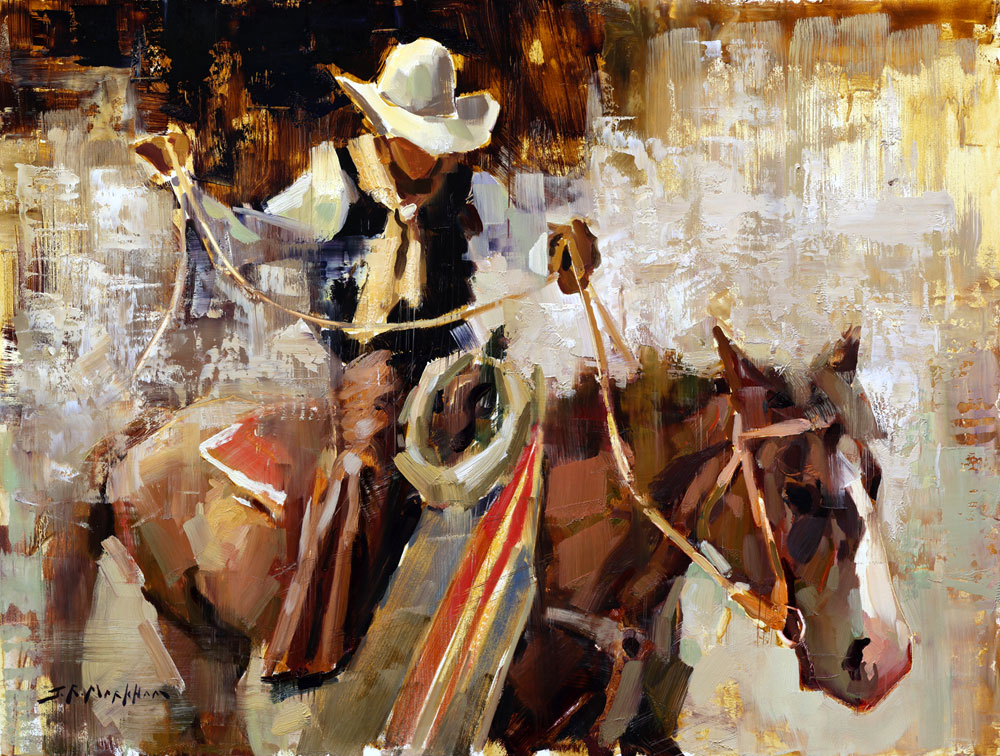Cowboy - painting by Jerry Markham