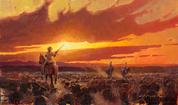 Defending The West - western painting by Jerry Markham