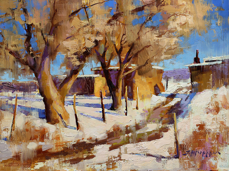 Down the Back Lane - painting by Jerry Markham artist