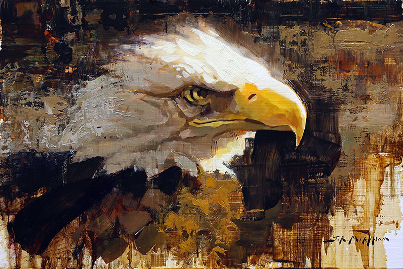 Eagle Eye - painting of bald eagle