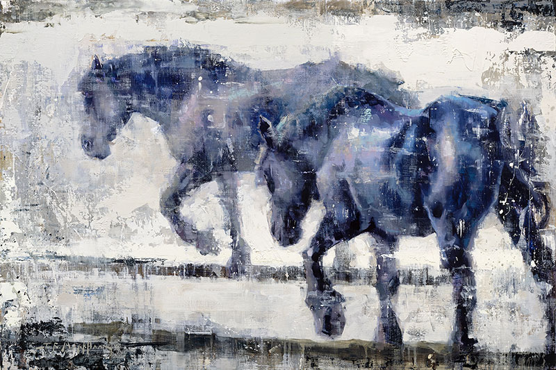 Elemental Equine - painting of horses by Jerry Markham artist