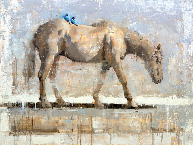 Free Ride - horse painting by Jerry Markham artist
