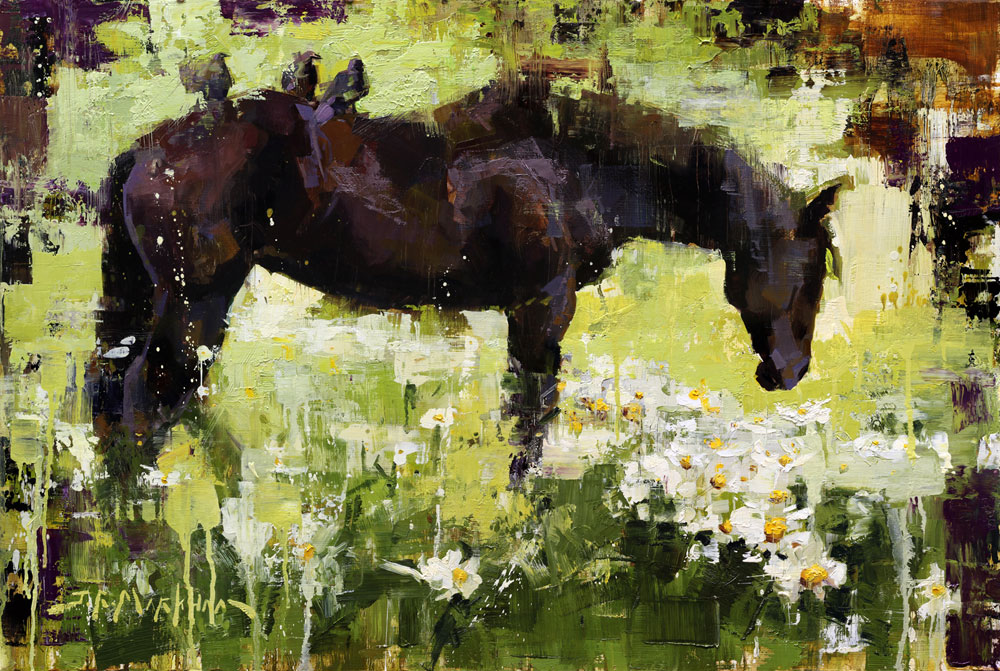 Fresh as a Daisy - horse painting by Jerry Markham
