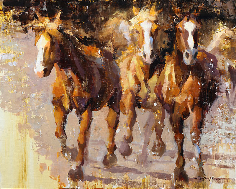Galloping Free - painting by artist Jerry Markham