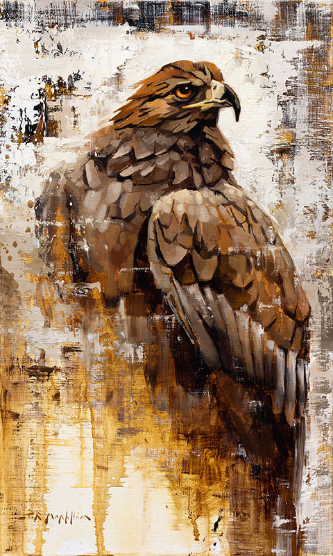 Golden Eagle painting by Jerry Markham artist