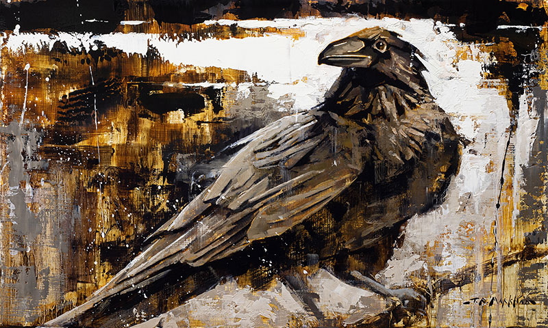I'm a Looker - Raven painting by Jerry Markham