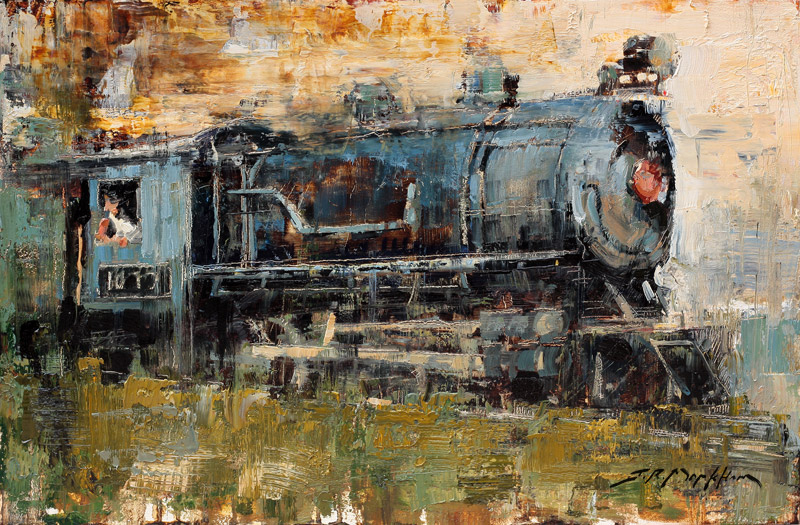 Ironhorse - train painting by Jerry Markham