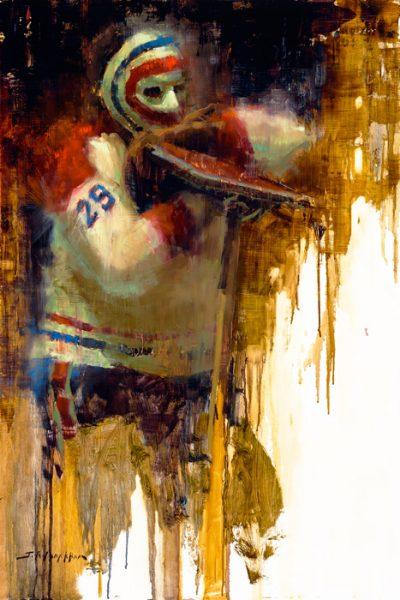 Ken Dryden painting print