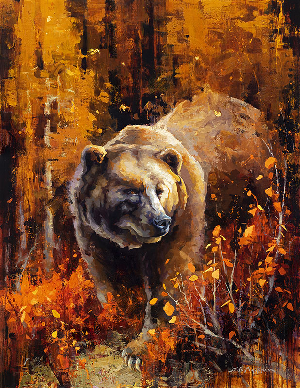 King Midas - grizzly bear painting by Jerry Markham artist