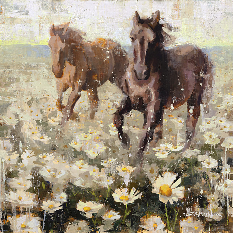 Like The Wind - painting of horses by Jerry Markham artist