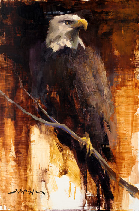 Noble Watchman - Painting of an eagle by Jerry Markham