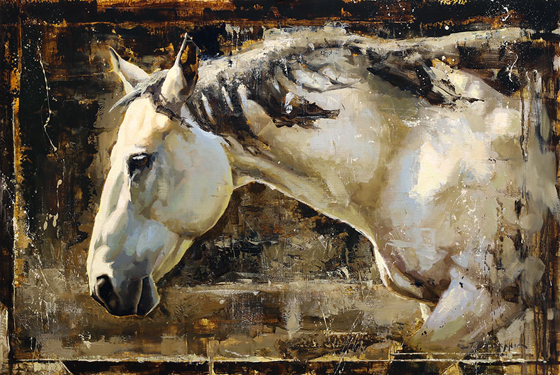 Portrait of Elegance - horse painting by Jerry Markham artist