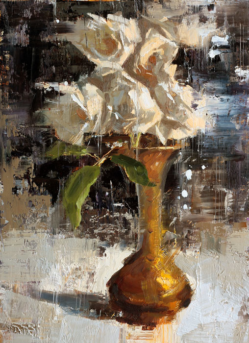 Roses - painting by Jerry Markham