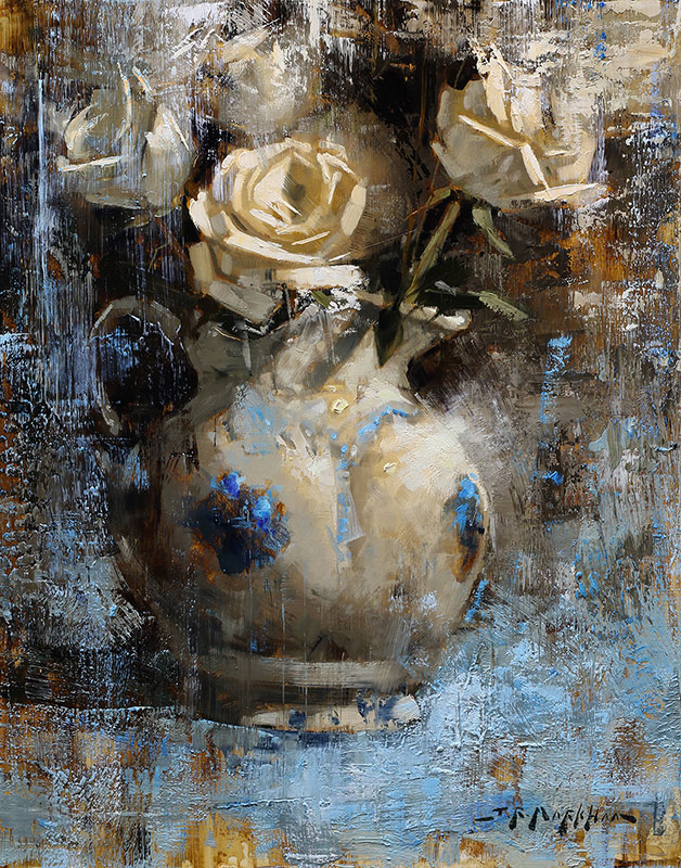 Roses With Ceramic Jug