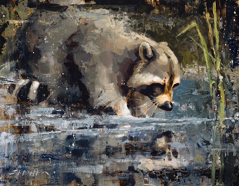 So We Meet Again - racoon painting