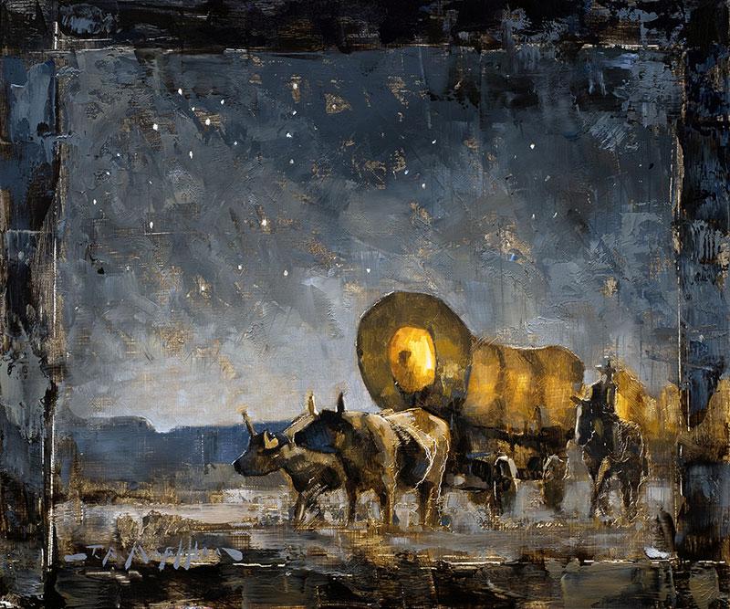 Westward Ho - western painting by Jerry Markham artist