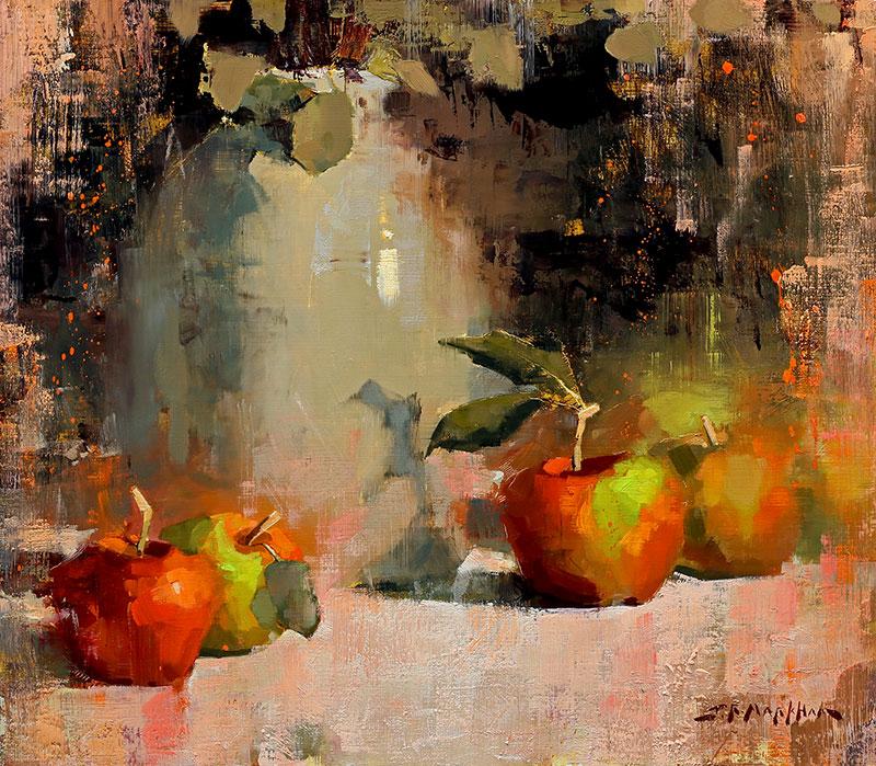 Apples and Ceramic Jug