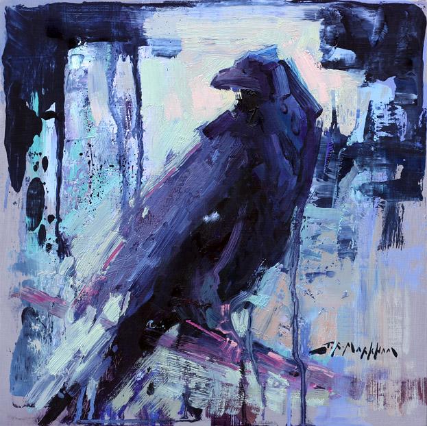Painting of a Raven by artist Jerry Markham - www.JerryMarkham.com
