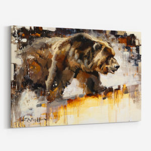 Bruiser Canvas Print Grizzly Bear Painting