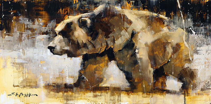 Don't Mess with Me - Grizzly bear painting by artist Jerry Markham