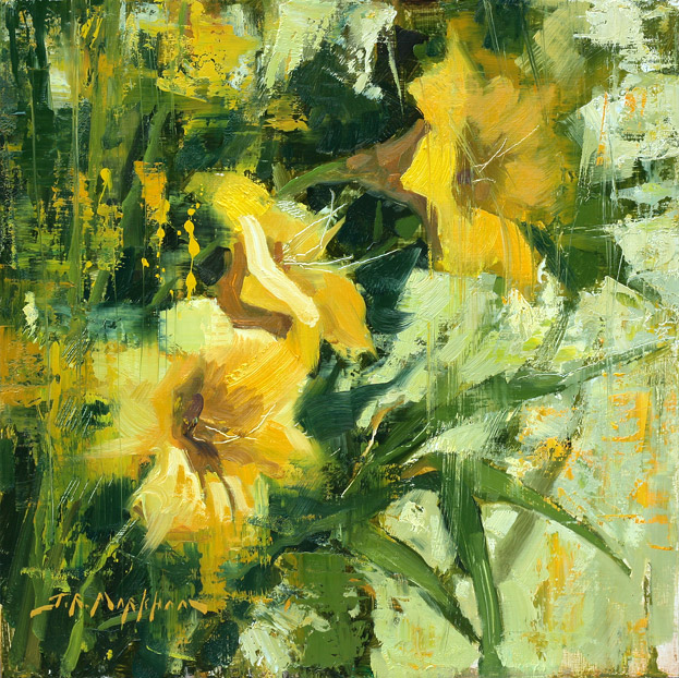 Golden Daylilies - painting by Jerry Markham