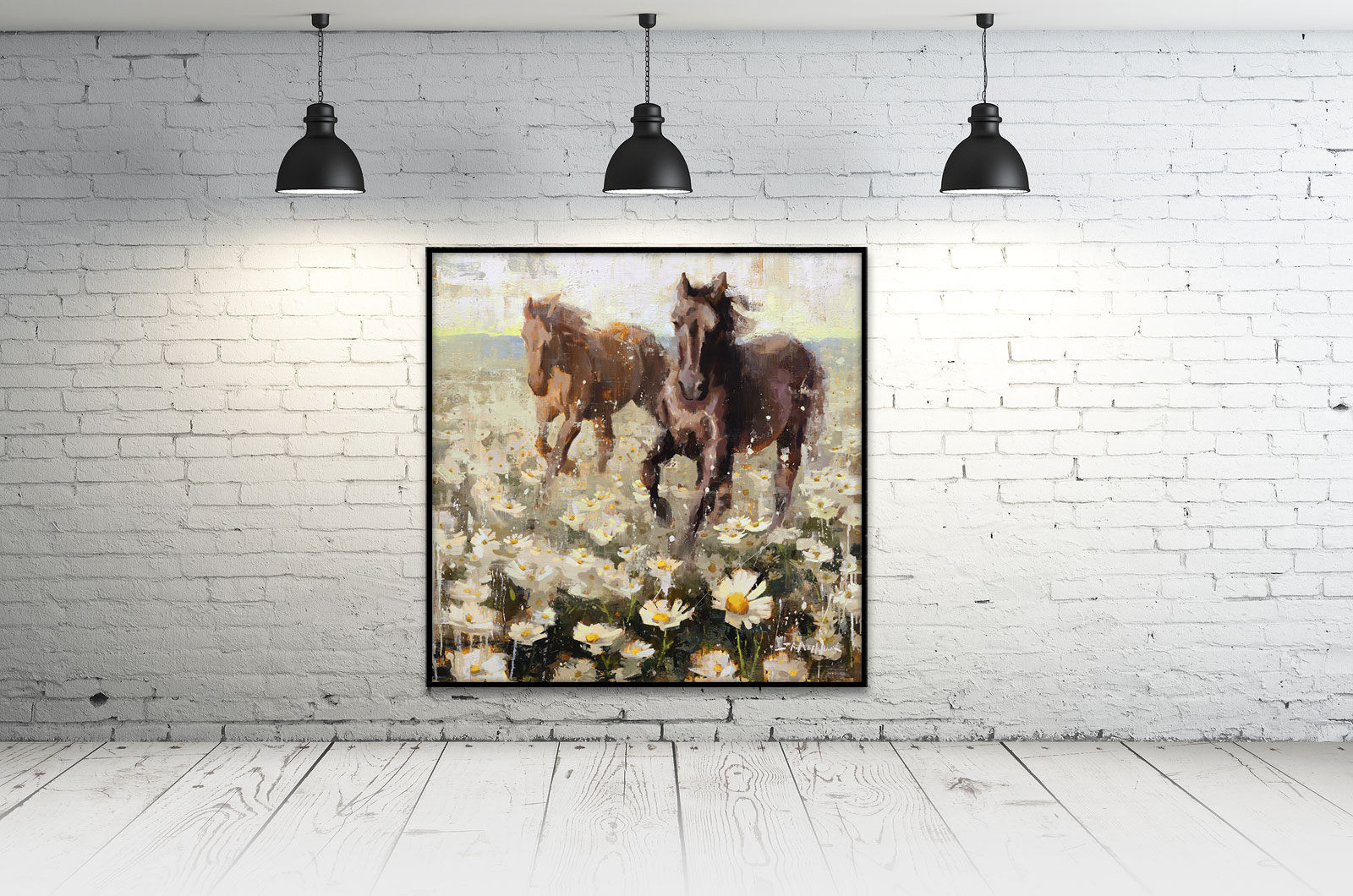 Fine art contemporary realism oil paintings by artist Jerry R. Markham - floral paintings, landscape paintings, wildlife paintings, figure paintings, western paintings, western art