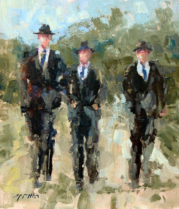Mennonite Boys - painting by Jerry Markham