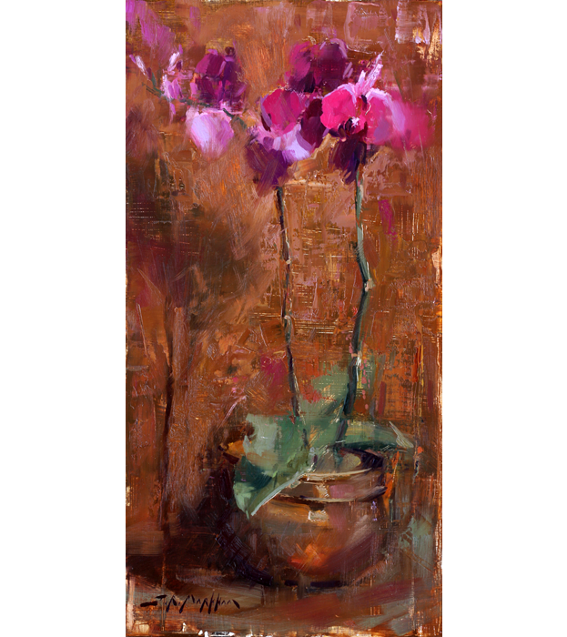 Orchids - Painting of orchids by Jerry Markham