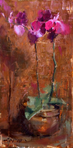 Orchids - Painting by Jerry Markham