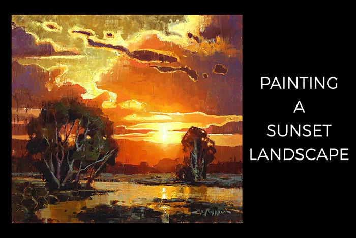 Painting a Sunset Landscape Instructional Video