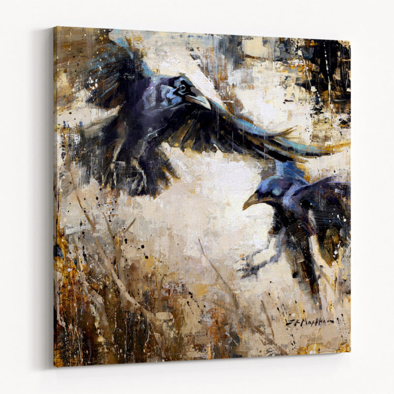 Partners in Crime Canvas Wrap Raven Painting