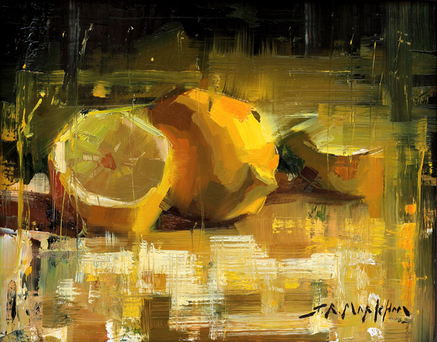 Pucker Up - Painting of lemons by Jerry Markham