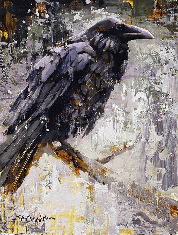 Raven painting by Jerry Markham artist