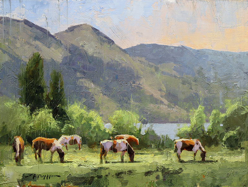 Summer Grazing - painting by Jerry Markham